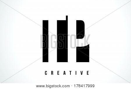 Tp T P White Letter Logo Design With Black Square.