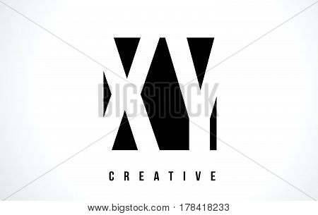Xy X Y White Letter Logo Design With Black Square.