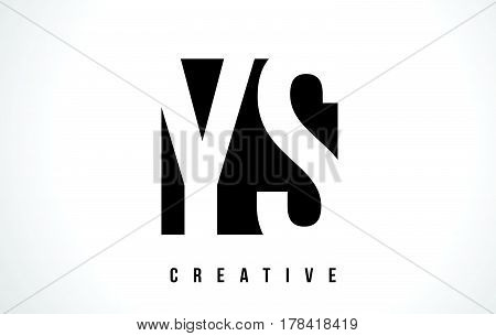 Ys Y S White Letter Logo Design With Black Square.