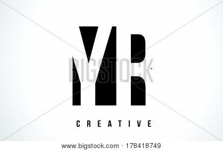 Yr Y R White Letter Logo Design With Black Square.