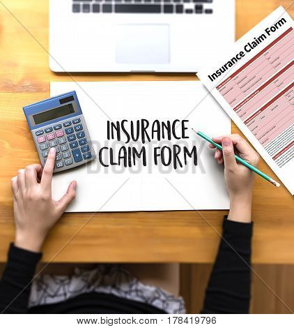 Claims Health Insurance Form , Business Concept , Insured Claims Emergency Condition