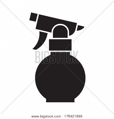 Garden sprayer icon in outline design. Spray bottle silhouette vector illustration.