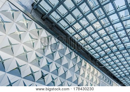 modern contemporary architecture in financial district of ShanghaiChina.