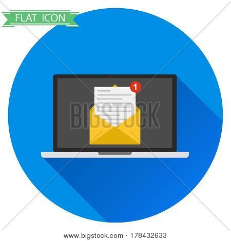 Laptop With A Letter