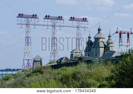Cossack fortress - a museum on the island of Khortytsya