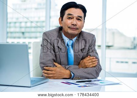 Portrait of asian businessman in office
