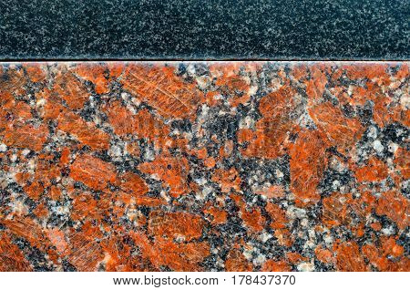 Granite wall texture as background. Detail of walls from natural stone
