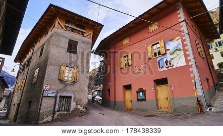 Celledizzo, Italy - March 6, 2017: Market In The Center Of The V