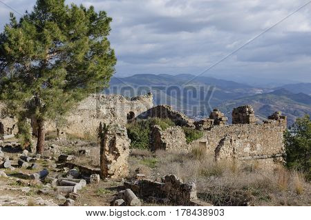Ancient City Of Syedra In Alanya Province Of Turkey
