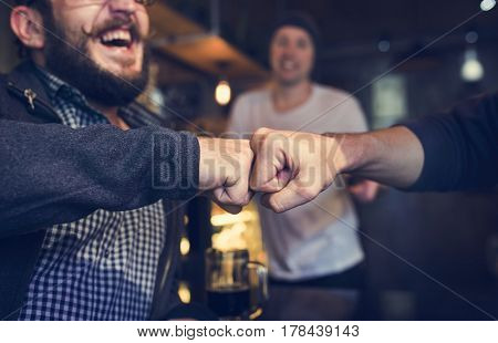 Fist Bump Friends Deal Partner Touch Pair Hands