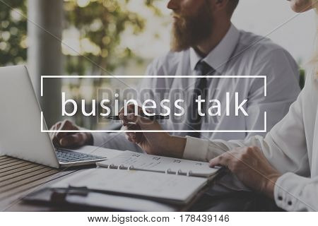 Business Talk Meeting Company Organization Graphic