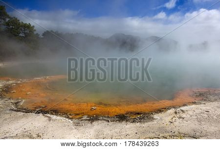 Hot thermal spring, New Zealand