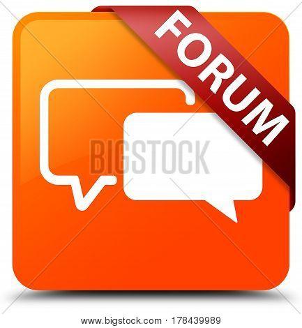 Forum Orange Square Button Red Ribbon In Corner