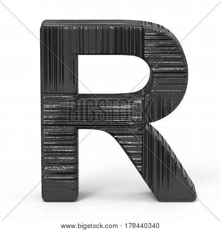 3D Black Letter R