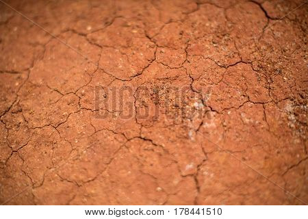 Cracked Red Earth, Australia