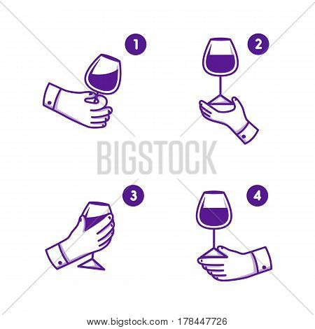 Simple set icon theme wine. Vector icon.