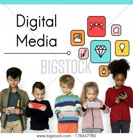 Digital Media Modern Technology Concept