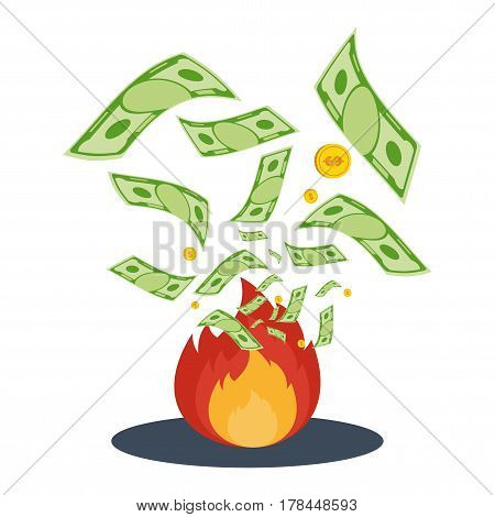 Money In Flame