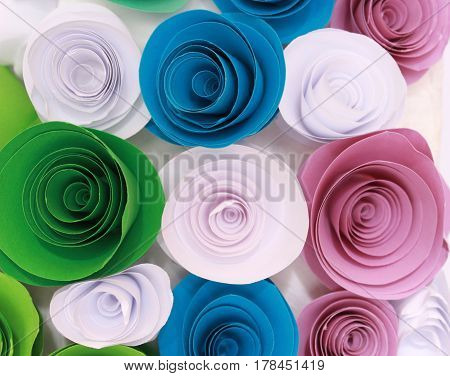 Artificial Colorful Rose That Is Handmade