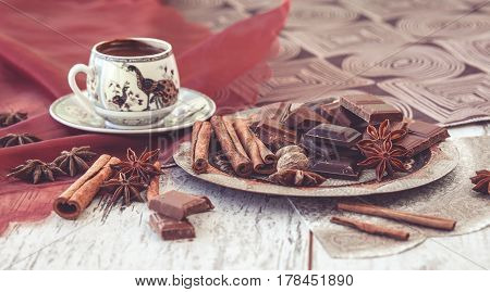Turkish Coffee Chocolate And Spices