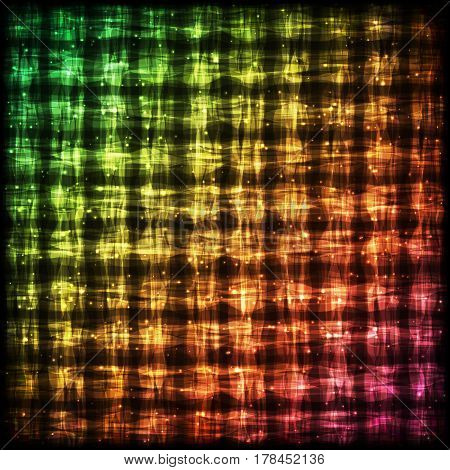 Glowing Checkered Pattern with Light Effect. Colorful Bright Gradient Abstract Background for Site Web App Program.