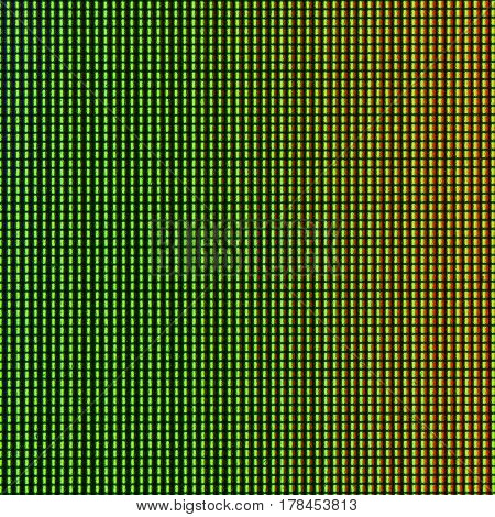 Closeup LED diode from LED TV or LED monitor screen display panel for background and design with copy space for text or image.