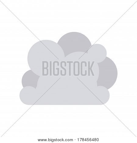gray cloud tridimensional in cumulus shape vector illustration