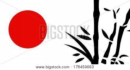 Traditional Japanese painting vector illustration art design