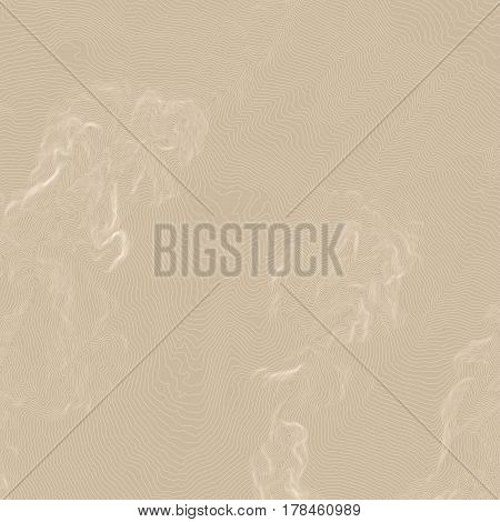 Vector abstract earth relief map. topographic map with beige background