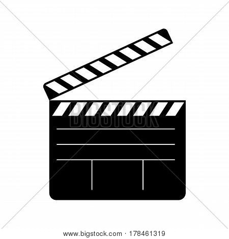Clapperboard open icon on white background. Vector illustration.