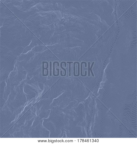 Vector abstract earth relief map. topographic map with blue background