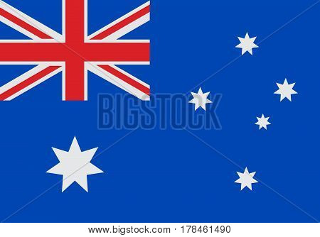 National Flag of Australia vector illustration. Official colors and proportion correctly