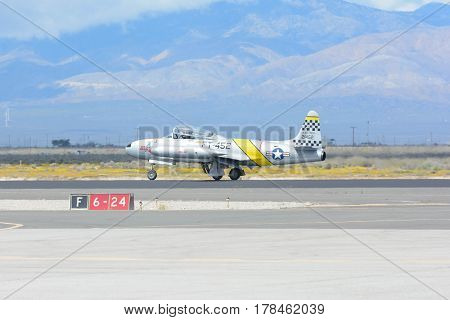 Greg Wired Colyer Is Taxiing An A Lockheed T-33