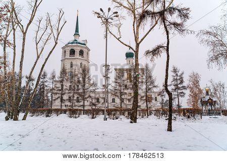 Church of Our Savior in Irkutsk Russia in the winter