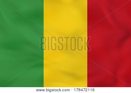 Mali Waving Flag. Mali National Flag Background Texture.