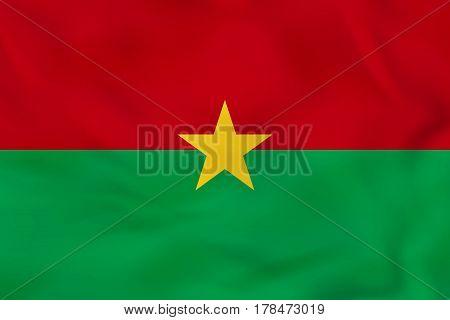 Burkina Faso Waving Flag. Burkina Faso National Flag Background Texture.