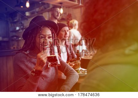 Gradient Color Style with Craft Beer Booze Brew Alcohol Celebrate