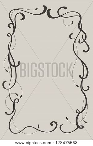 Decorative vintage Frame and Borders Art. Calligraphy Vector illustration EPS10.