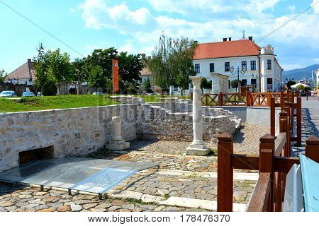 Urban landscape in the  Medieval fortress Alba Iulia, Transylvania. The modern city is located near the site of the important Dacian political, economic and social centre of Apulon, which was mentioned by the ancient Greek geographer Ptolemy. Alba Iulia i