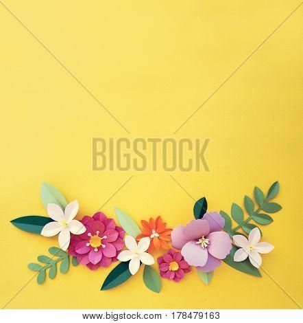 Flowers Handmade Design Papercraft Art