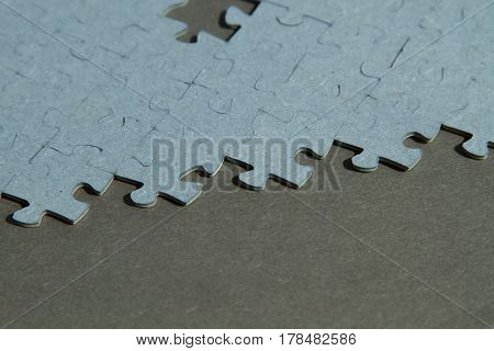 Jigsaw Puzzle background with one empty places with copy space