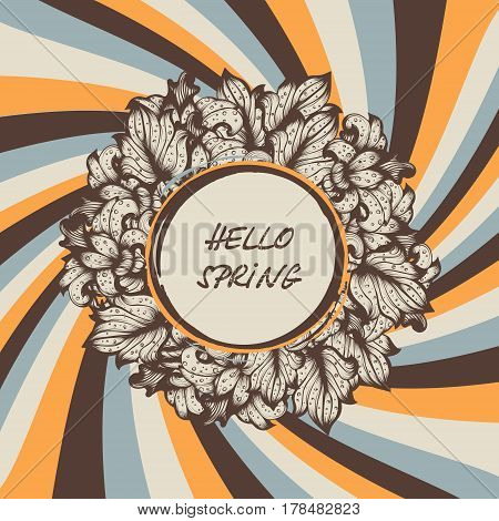 Vintage Floral Vector Spring Radiant Colored Background