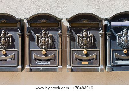 Old Italian mailboxes - Tuscan ornamental postboxes