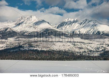 Winter mountain landscape. High Tatras, Slovakia