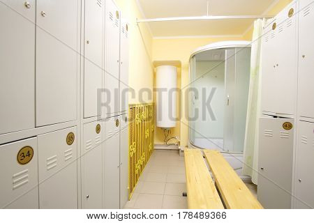 Interior of a cloakroom