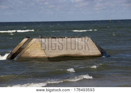 Breakwater Wave At Baltic Sea