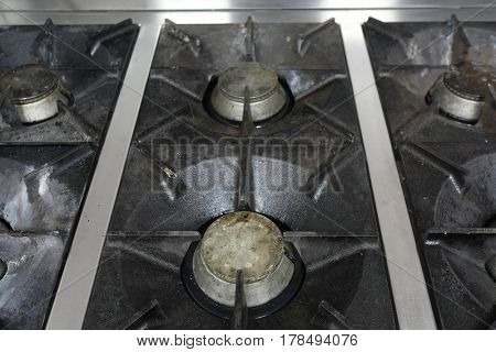 Professial kitchen stove