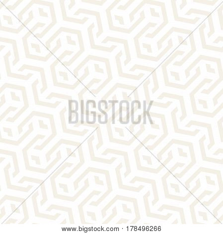 Vector Seamless Interlacing Lines Pattern. Modern Stylish Texture. Repeating Geometric Background With Hexagonal Lattice.