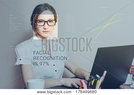 Recognition Of Female Face. Biometric Verification And Identification