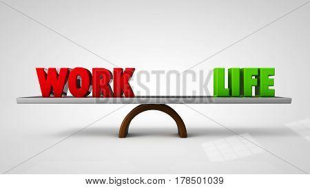 work life balance concept 3d render illustration